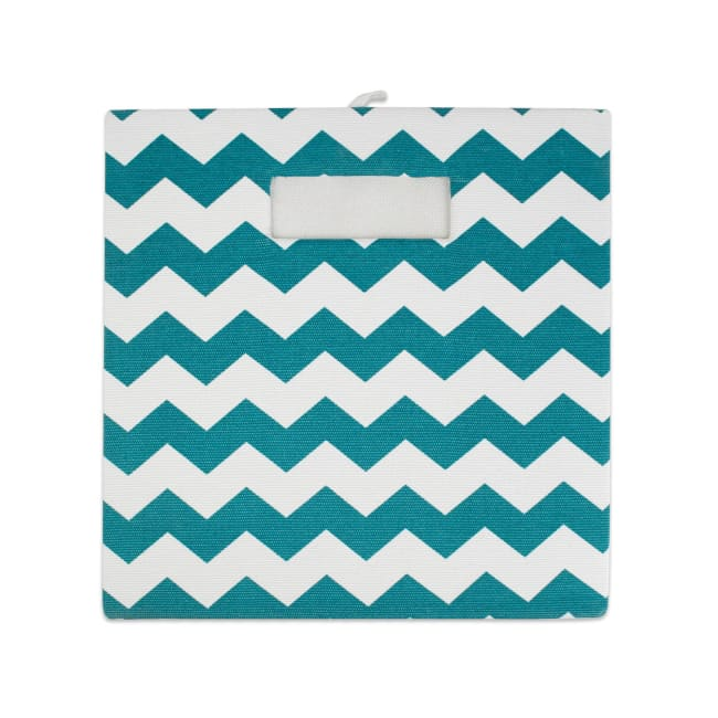 Polyester Cube Chevron Teal Square 13x13x13