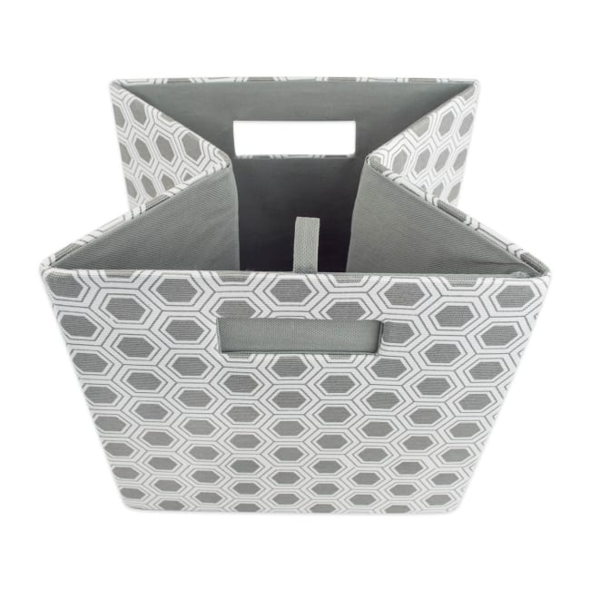 Polyester Cube Honeycomb Gray Square 13x13x13