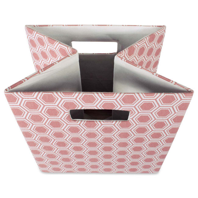 Polyester Cube Honeycomb Rose Square 13x13x13