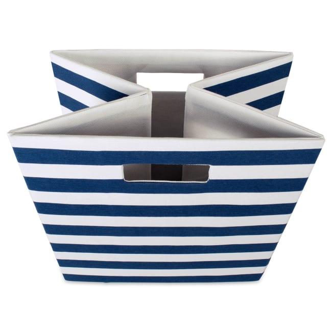 Polyester Cube Stripe Nautical Blue Square 13x13x13
