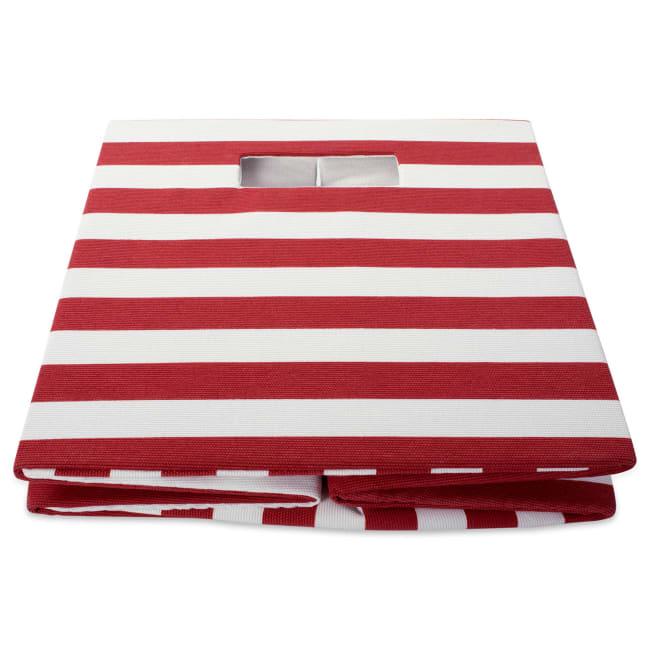 Polyester Cube Stripe Rust Square 13x13x13