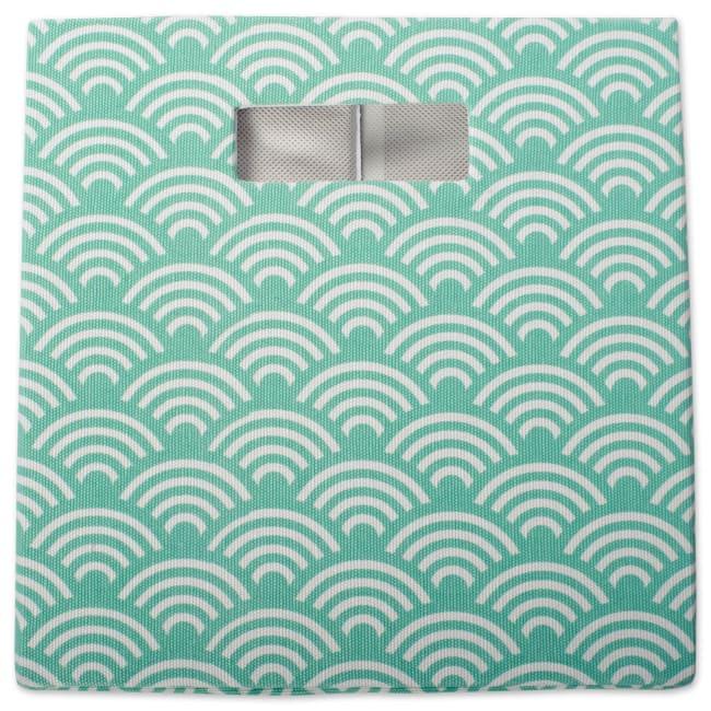 Polyester Cube Waves Aqua Square 13x13x13