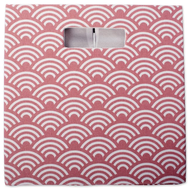 Polyester Cube Waves Rose Square 11x11x11