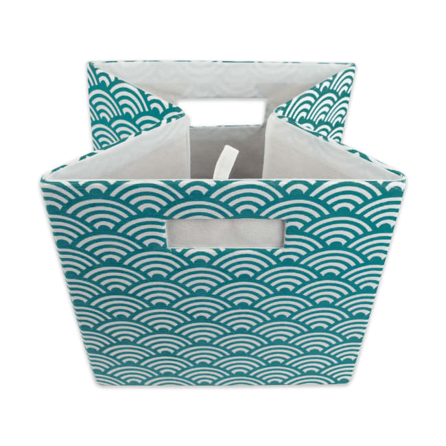 Polyester Cube Waves Teal Square 13x13x13
