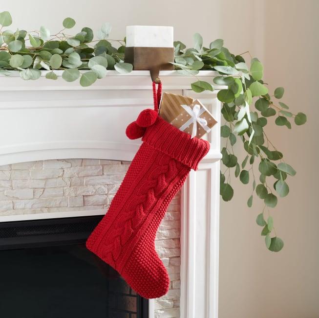 Safavieh Nutmeg 11 x 19 Stocking in Red