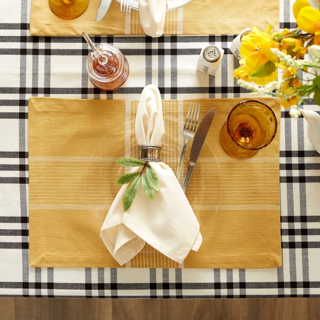 Fiesta Curry Check Set of 6 Placemats
