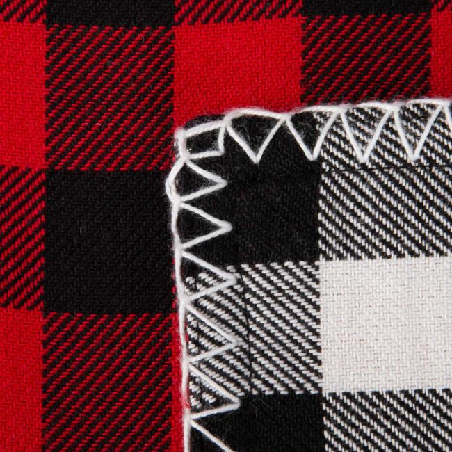 Christmas Buffalo Check With Embroidery Table Runner