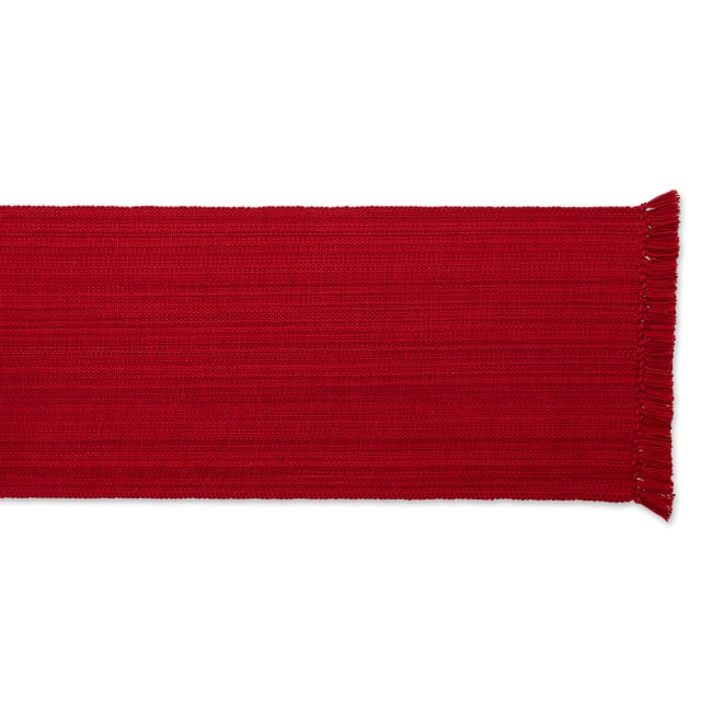 Tango Red Fringe Table Runner