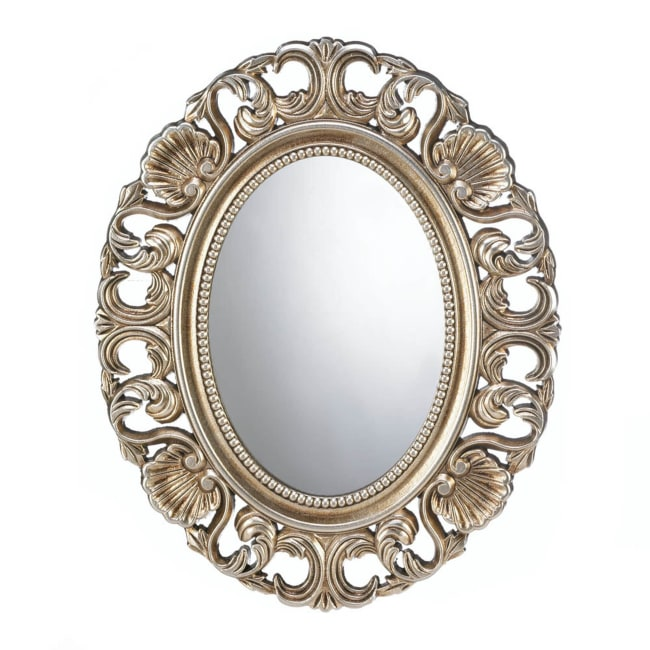 Gilded Oval Wall Mirror