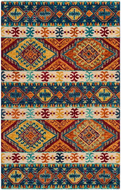Vail Blue & Ivory Wool Rug