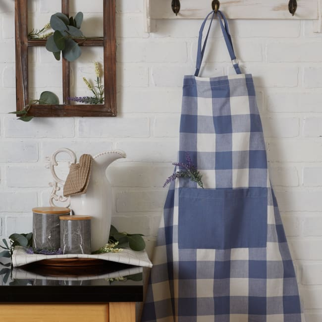 Stonewash Blue Buffalo Check Chef Apron