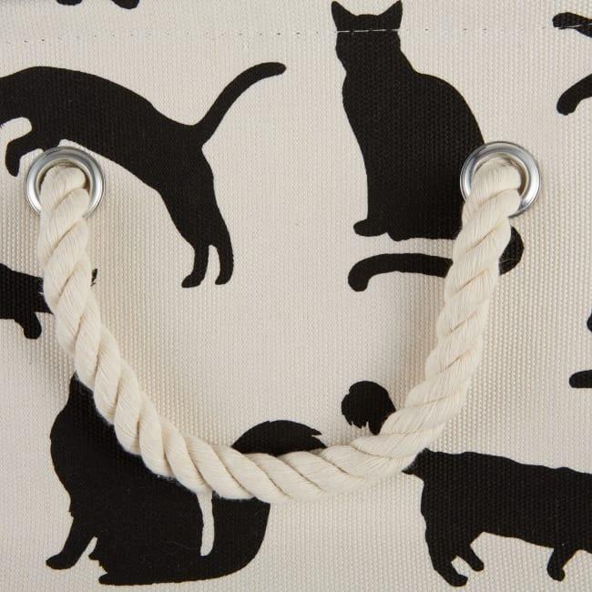 Cats Meow Polyester Round Medium Pet Storage Bin