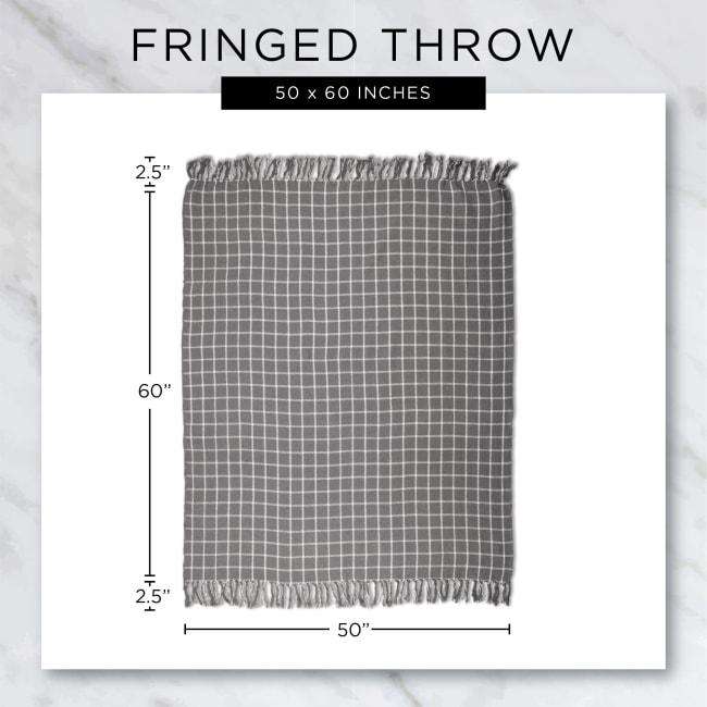 Multi Diamond Gray Tone Throw