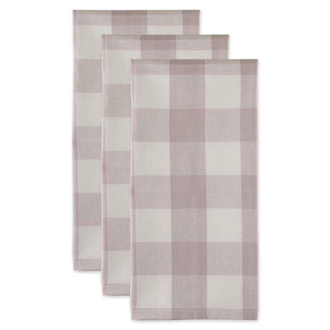 Buffalo Check Dusty Lilac Set of 3 Dishtowels