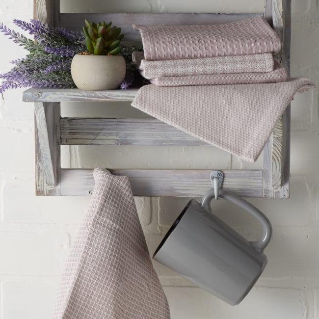 Asst Dusty Lilac Set of 5 Dishcloths