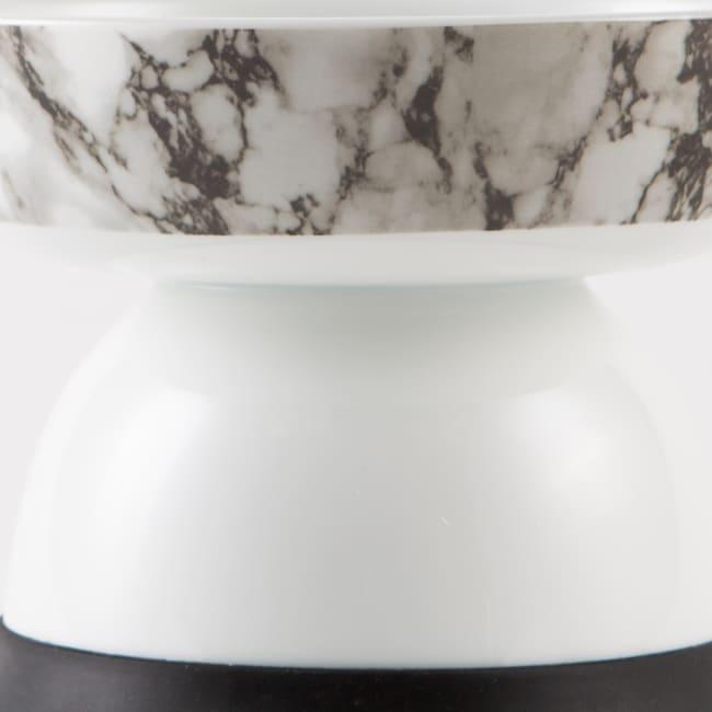 Bone Dry Raised Marble Large Set of 2 Pet Bowls
