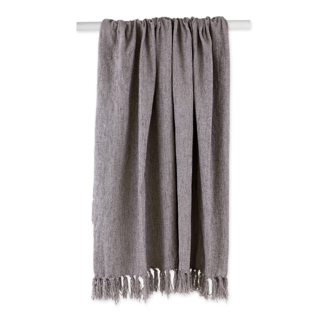 Soft Gray Chenille Throw