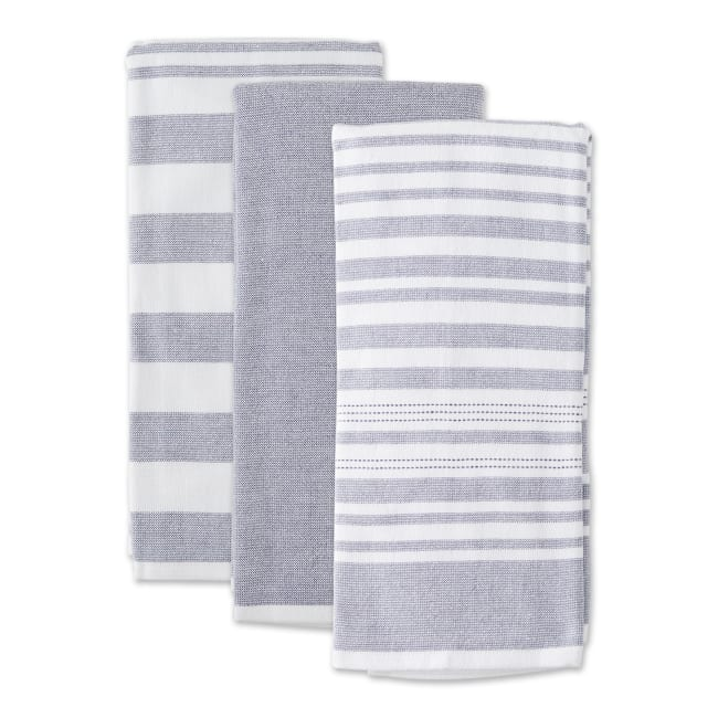 Asst Barn Red French Terry 3 Piece Dishtowel