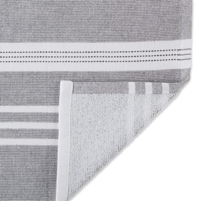 French Blue French Terry Chambray Solid 3 Piece Dishtowel