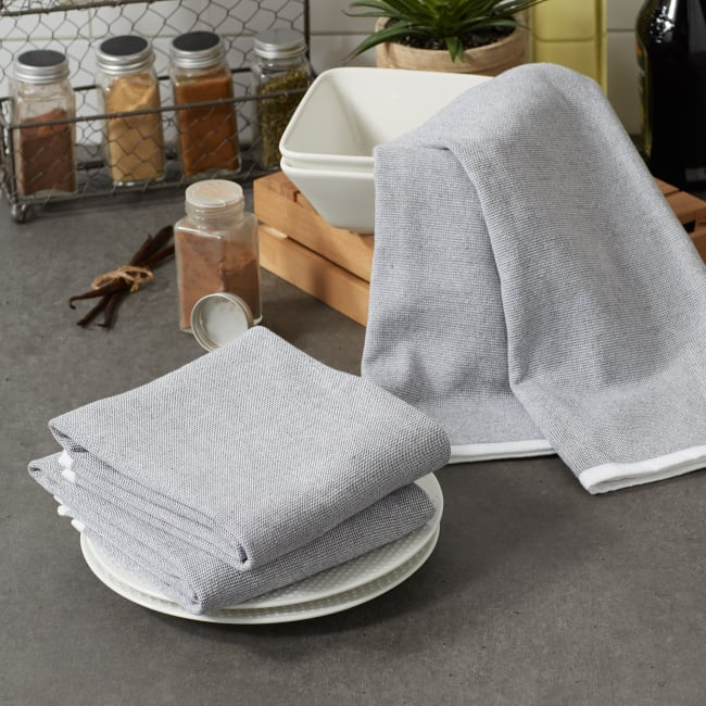 Mineral French Terry Variegated Stripe 3 Piece Dishtowel