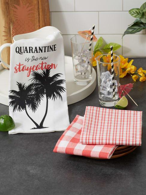 Quarantine Is The New Staycation 3 Piece Dishtowel