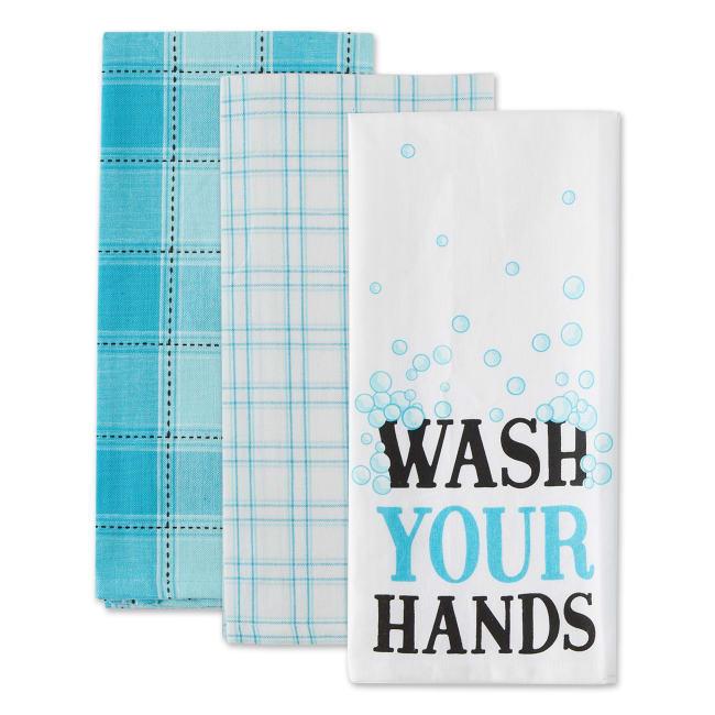 Wash Your Hands 3 Piece Dishtowel