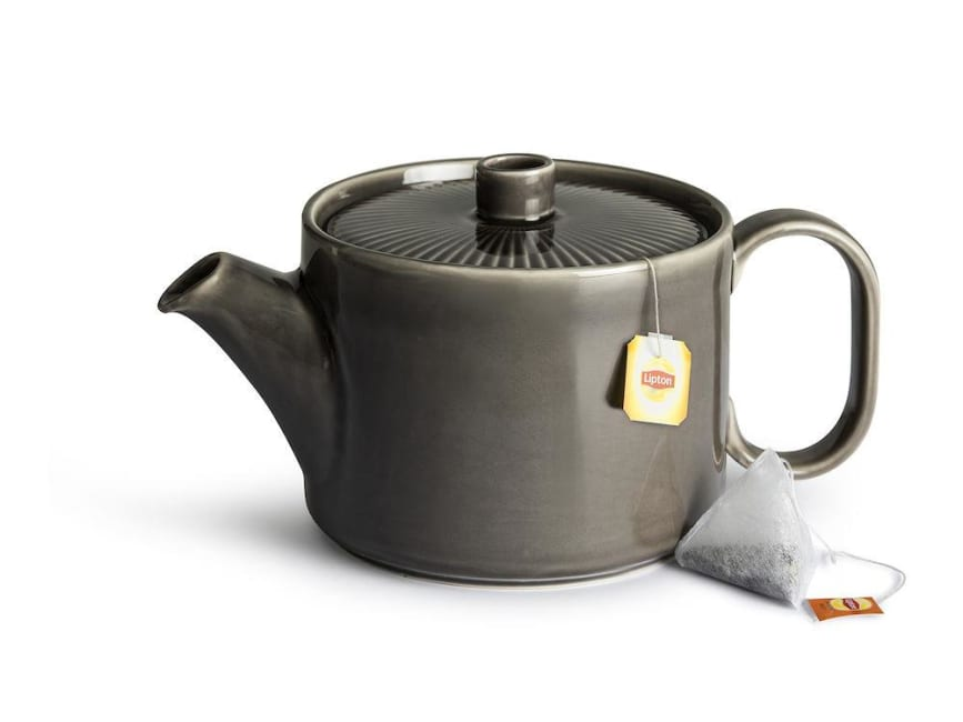 Coffee & More grey tea pot