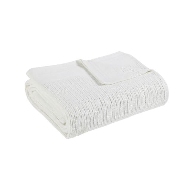 Avanti Fiesta White Full Queen Blanket