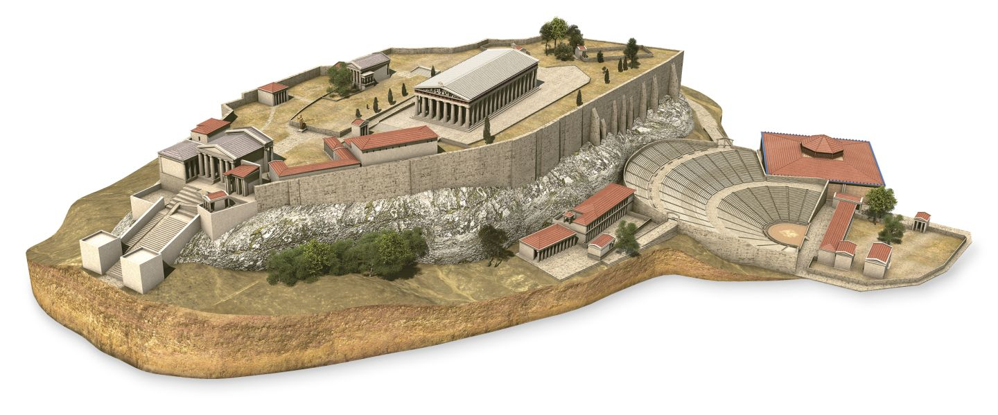 the temples within the walls of the acropolis of athens Athens acropolis the acropolis of athens was planned, and construction begun,  the magnificent temple on the acropolis of athens, known as the parthenon, was.