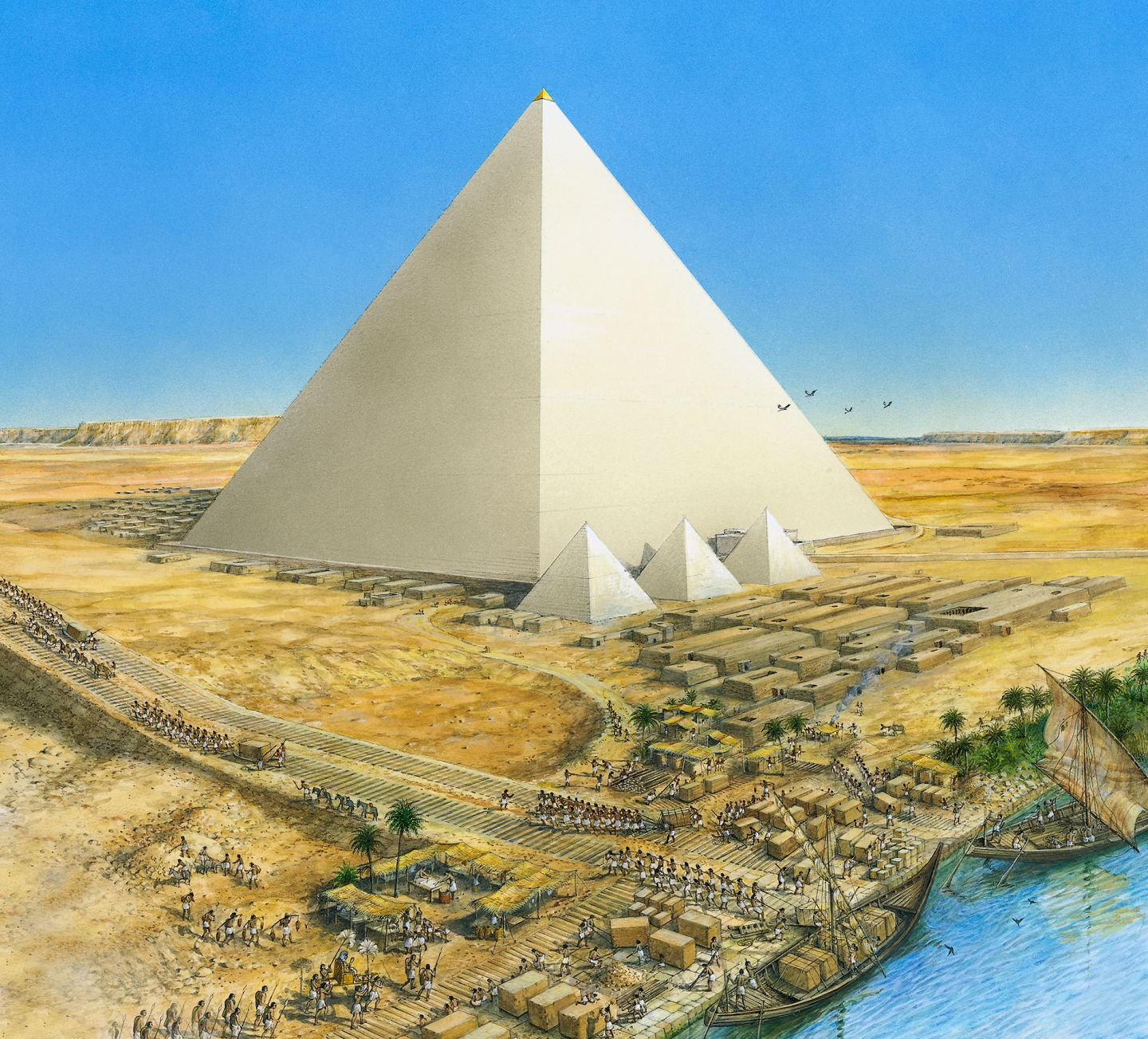 What does an egyptian tomb look like