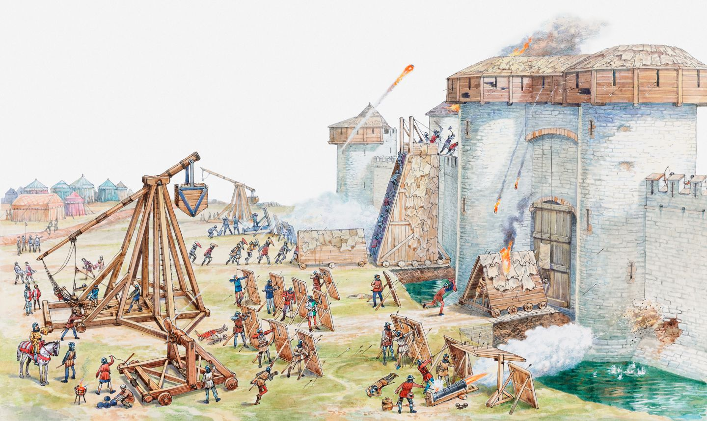 a history of the rochester castle in the middle ages He site on which rochester castle is built was originally a roman castrum, or  military camp shortly after the norman invasion of 1066 a new castle was built  on.