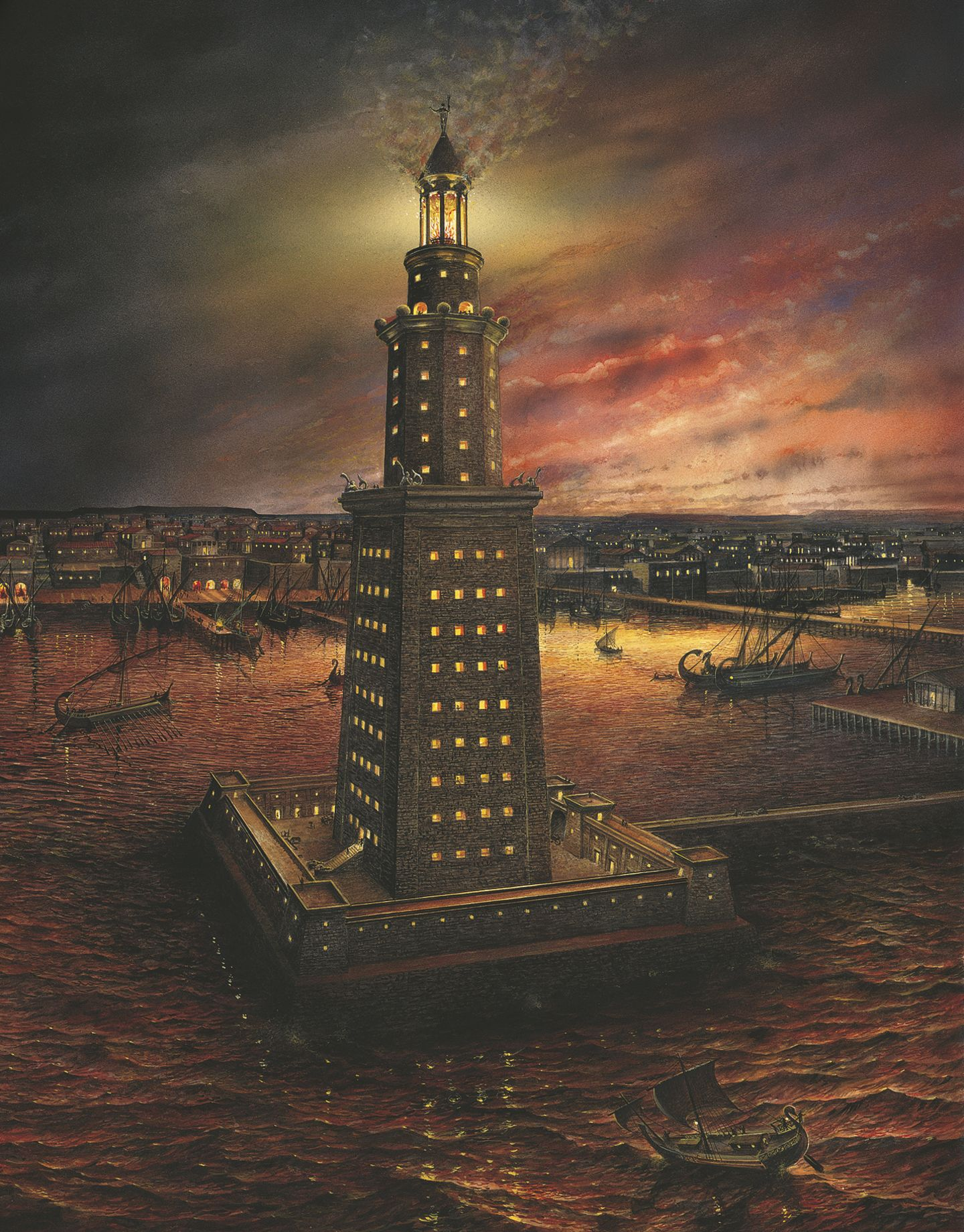 the pharos lighthouse of alexandria egypt The famed lighthouse of alexandria, called pharos, was built around 250 bc to help mariners navigate the harbor of alexandria in egypt it was truly a marvel of engineering, standing at.