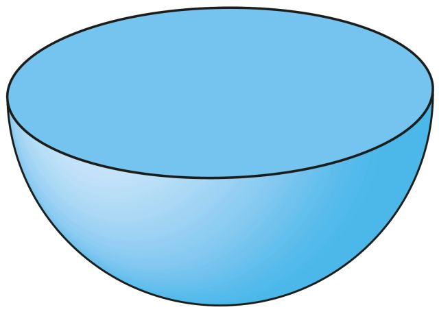 how to find the volume of a hollow hemisphere