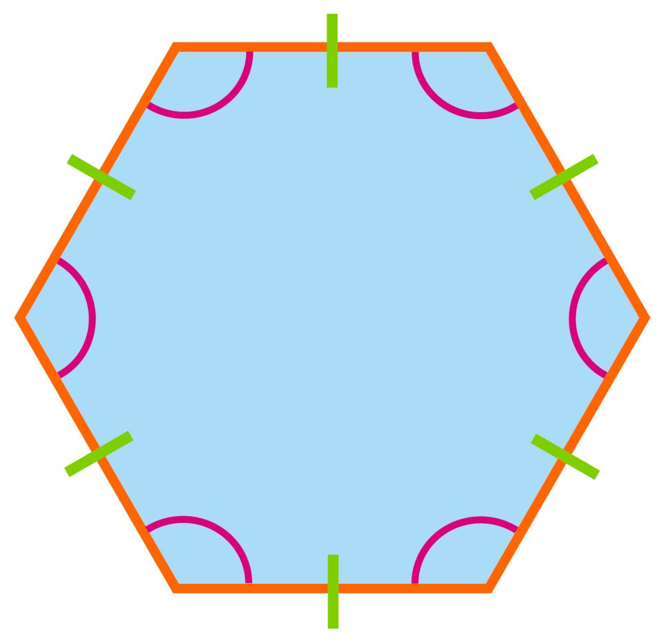 What does a hexagon look like