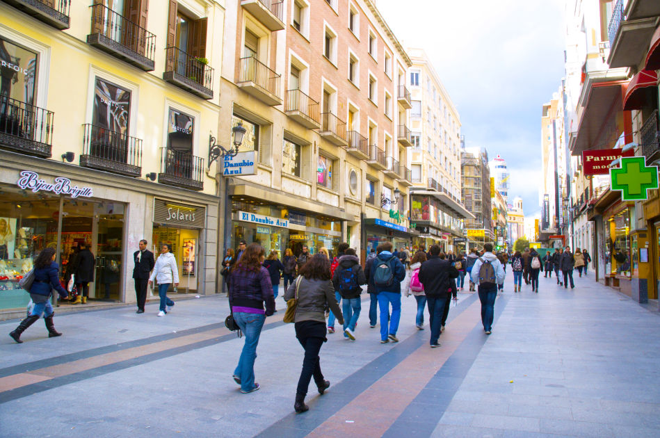Calle de preciados madrid dk eyewitness travel for Calle sol madrid