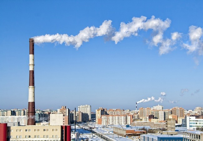 Thermal power plant. Winter