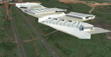 An artist's impression of the multi-million rand logistics and retail park at the N2 Business Estate in Durban