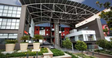 Design District, Rosebank- a hub for creative companies- a striking Africrest building.