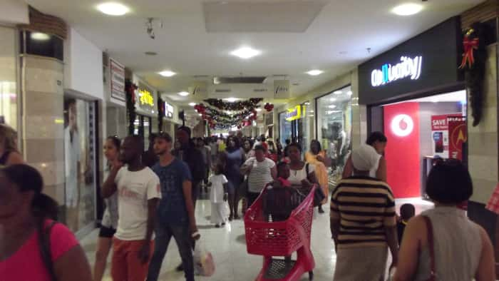 Shoppers at The Bridge at Greenacres in the Port Elizabeth.