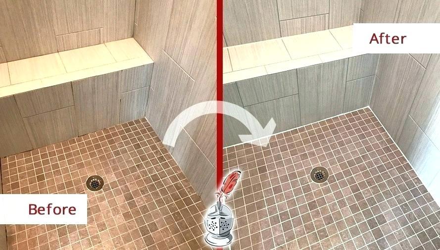 Sealing shower floor