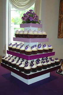 Pink and purple wedding cupcakes