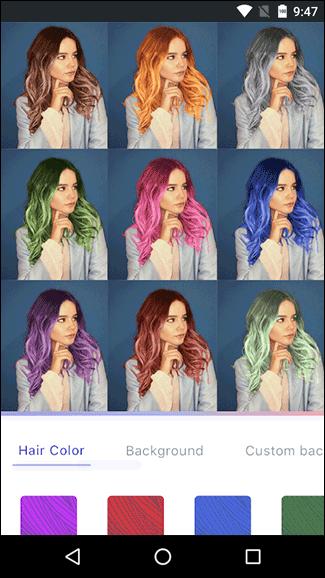 Редактор чтобы поменять цвет волос