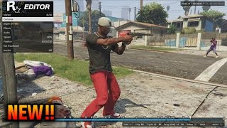 GTA 5 Rockstar Editor Tutorial How To Use Rockstar Editor GTA 5 Online DLC Rockstar Editor