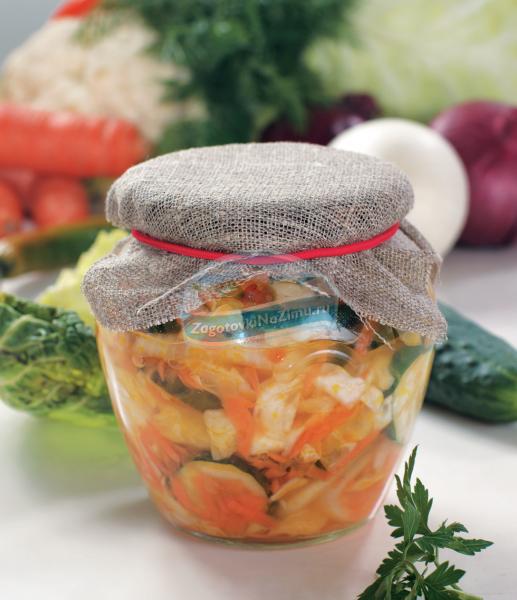 Салат на зиму из огурцов и капусты рецепт