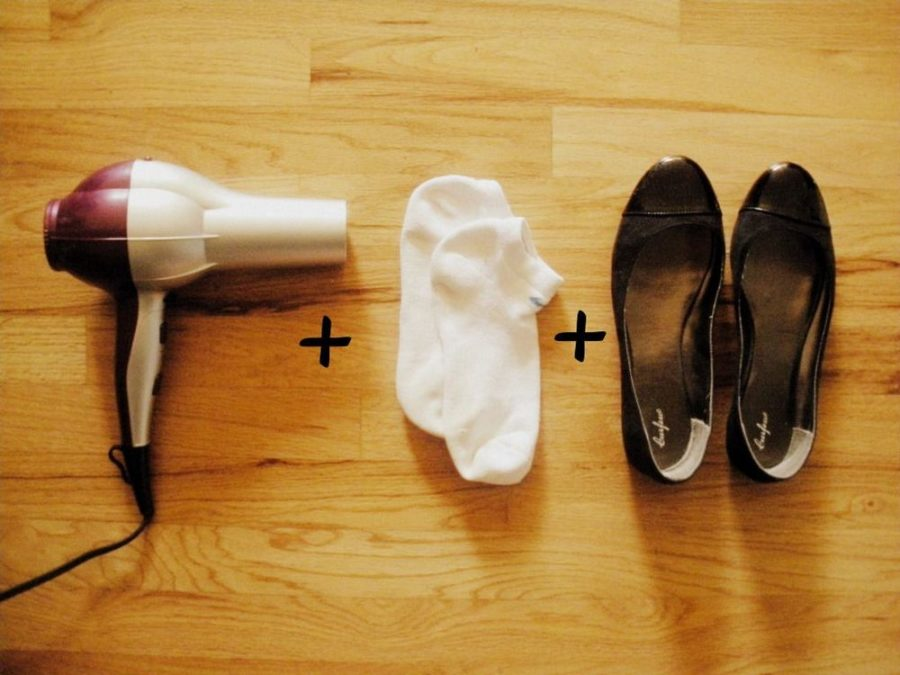 растянуть обувь фен