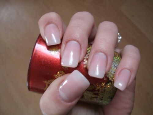 Gel nails clear tips