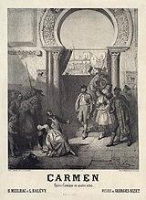 Плакат к премьере, 1875