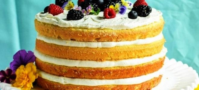 Рецепт коржей для торта легкий