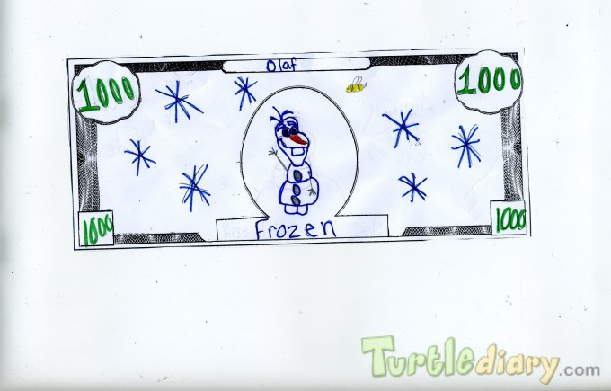 Olaf from Frozen - Design Your Own Money Contest March 2015 Submission