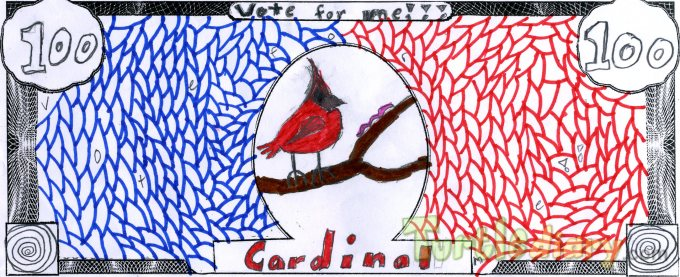 The 100 dollar Cardinal - Design Your Own Money Contest March 2015 Submission